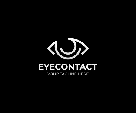 Eye vision logo template. Eyeball vector design. Optical logotype Illustration