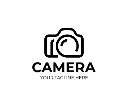 Digital camera logo template. Photography vector design. Photo studio logotype Stock Illustratie