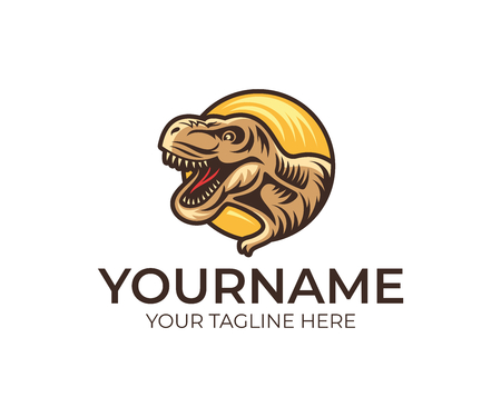 Tyrannosaurus Rex, logo design. Dinosaur, animals, wildlife and nature, vector design and illustration Illustration