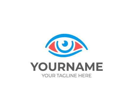 Red eye logo design. Conjunctivitis vector design. Inflamed eyes logotype