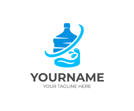 Logo design. Drink, beverage, liquid, organic, natural Çizim