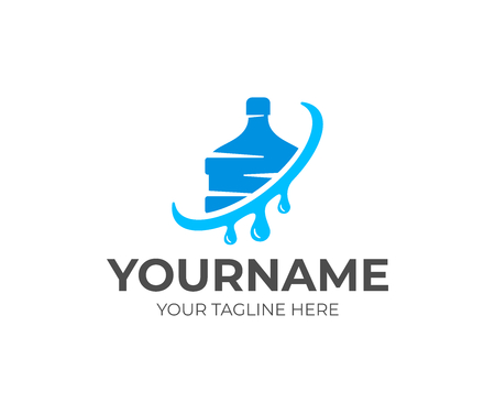 Water store logo design. Drink, beverage, liquid, organic, natural Çizim