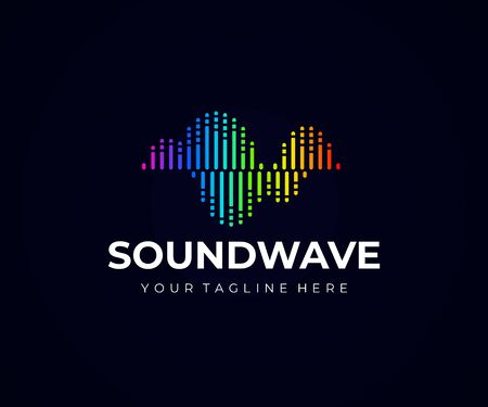 Sound wave design. Music frequency vector design.