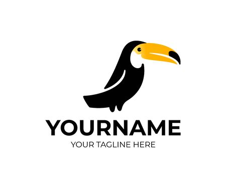 Toucan bird, abstract toucan, logo design. Animal, nature, tropical forest and wildlife, vector design and illustration Ilustracja