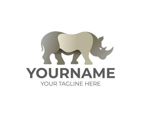 Rhino animal, logo design. Beast, mammal and wildlife, vector design and illustration Illusztráció