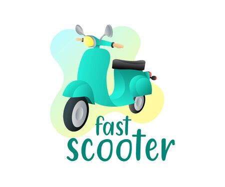 Scooter, motorcycle and scooter bike, illustration and logo design. Transport, transportation and vehicle, vector design