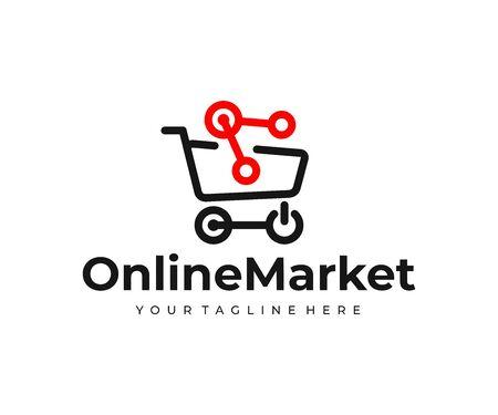 Online marketplace design. Online shopping vector design. Electronic commerce Ilustração