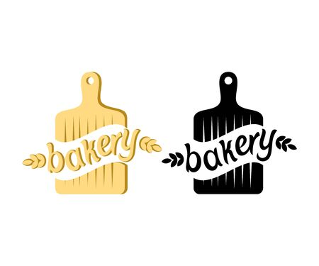 Bakery, bakehouse and bake shop, logo design. Food, confectionery, sweet-shop and pastry-shop, vector design and illustration