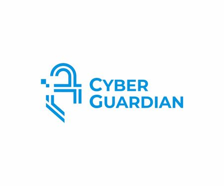 Digital safety design. Cyber security vector design. Lock with shield logotype Illustration