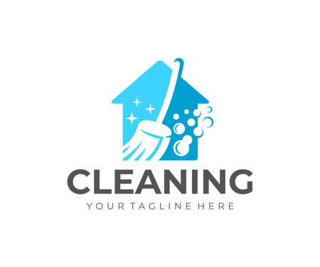 House cleaning and house cleanup service  design. Sanitizing, disinfecting, hygiene and cleanliness, vector design and illustration