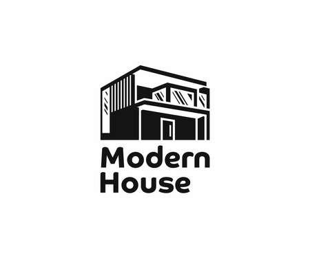 Modern building architecture  design. Residential property development vector design. Architect construction