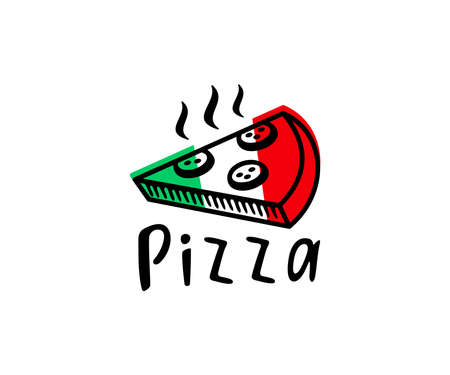 Pizzeria, pizza, slice of pizza, logo design. Food, fast food, catering and restaurant, vector design and illustration