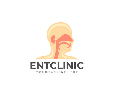 Ear nose throat clinic, medical, medicine and healthcare, design. Hospital, treatment, diagnosis and respiratory system, vector design and illustration