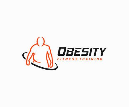 Obesity problem  design. Overweight man and muscular man vector design.