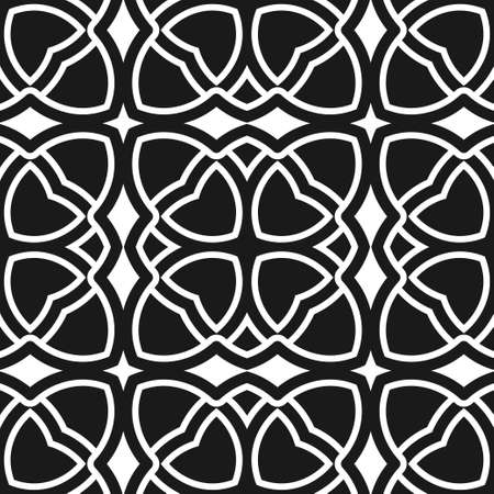 mosaic: Abstract seamless black and white color pattern for wallpapers and backgrounds. Illustration