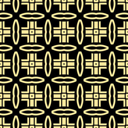 grid: Seamless vintage wallpaper pattern. Ornamental decorative background. Vector template can be used for design of wallpaper, fabric, oilcloth, textile, wrapping paper and other design Illustration