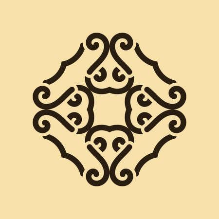Vintage abstract ornamental logo. Element for design Illustration