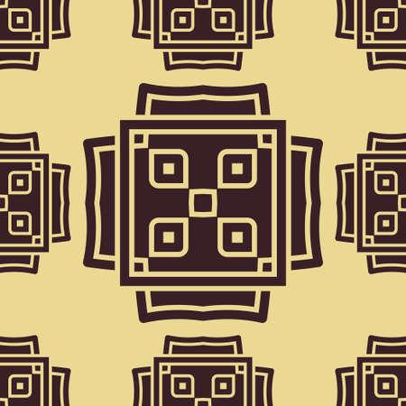 Abstract naadloos gekleurd patroon voor wallpapers en achtergronden. Vector sjabloon kan worden gebruikt voor het ontwerp van behang, stof, tafelzeil, textiel, inpakpapier en andere Stock Illustratie