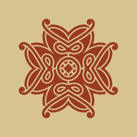 Ornamental vintage, retro, colored logo. Template for design. Art element