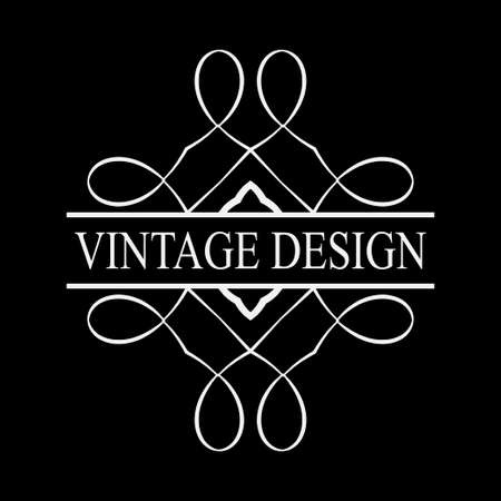 Vintage ornamental label logo. Template for design of logotypes or labels Illustration