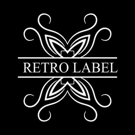Vintage logo template for labels. Vector logotype element, retro label, badge Illustration