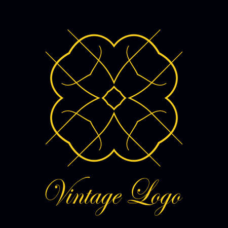 Vintage logo template. Vector logotype element, retro label, badge