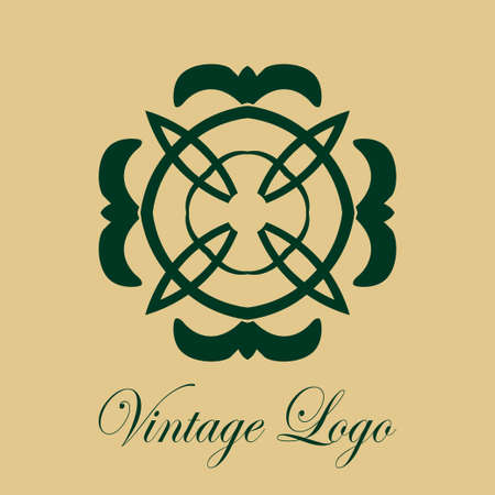 Vintage ornamental logo Template for design of logotypes Illustration