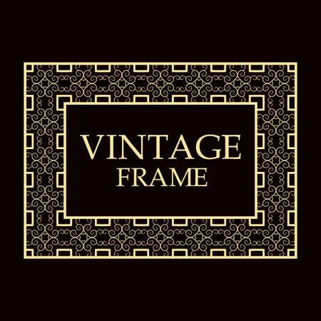 Vintage ornamental decorative label frame Illustration