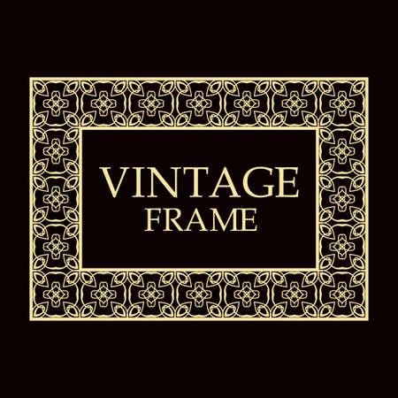 Vintage ornamental decorative label frame. Retro template for design Illustration