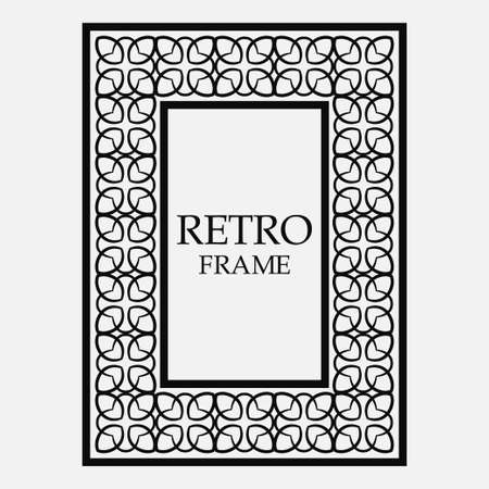 Vintage ornamental decorative label frame. Retro template for design Ilustrace