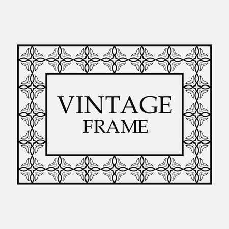 Vintage Ornamental Decorative Label Frame Template Royalty Free ...