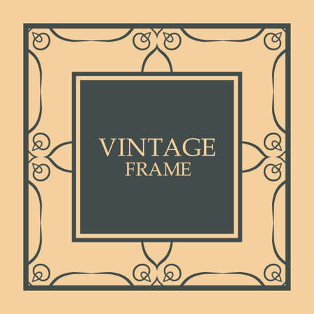 Vintage ornament greeting card   template Vettoriali