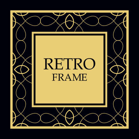 Vector ornate frame and ornaments. Template for invitations or announcements.