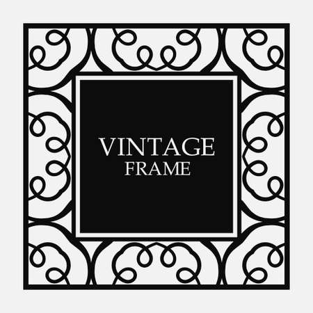 Vector vintage border frame. Decorative design