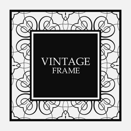 Vector vintage border frame. Decorative design