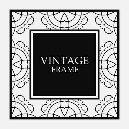 Vector vintage border frame.