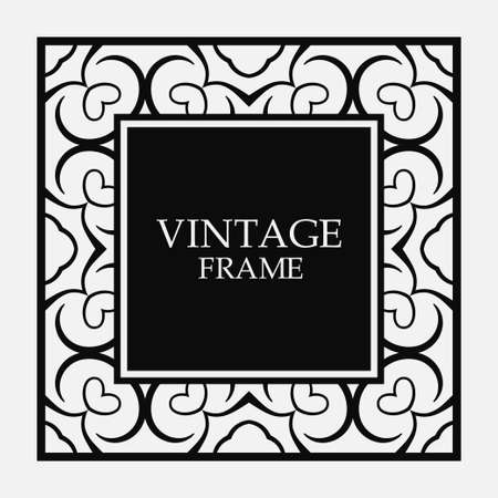 Vector vintage border frame. Decorative design Stok Fotoğraf - 101003250