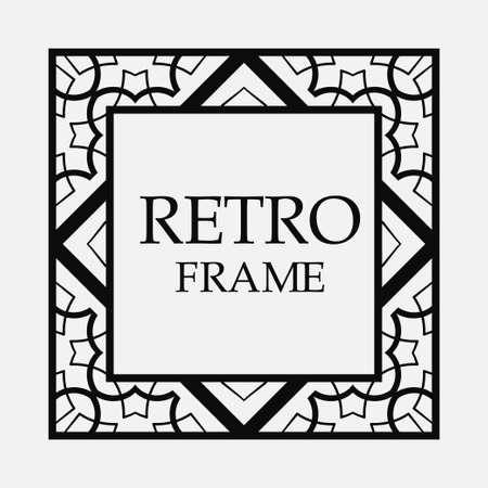 Decorative ornamental vintage frame. Template for design
