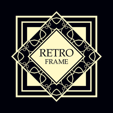 Vector geometric frame in Art Deco style. Rectangle vector abstract element for design. Imagens - 101901283