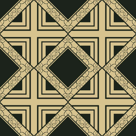 abstract vintage geometric wallpaper pattern seamless background. Vector illustration