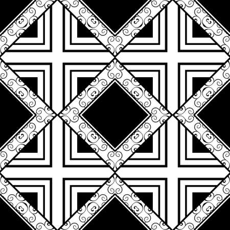 Ornamental vintage seamless pattern. Vector abstract background.