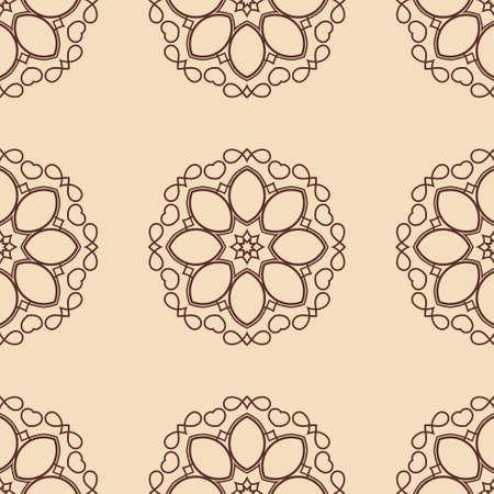 Vintage floral seamless floral texture. Element for design. Ornamental backdrop. Ornate floral decor for wallpaper. Traditional decor Illustration