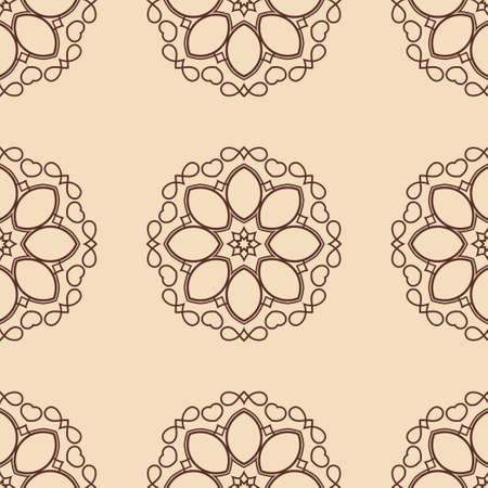 Vintage floral seamless floral texture. Element for design. Ornamental backdrop. Ornate floral decor for wallpaper. Traditional decor Иллюстрация
