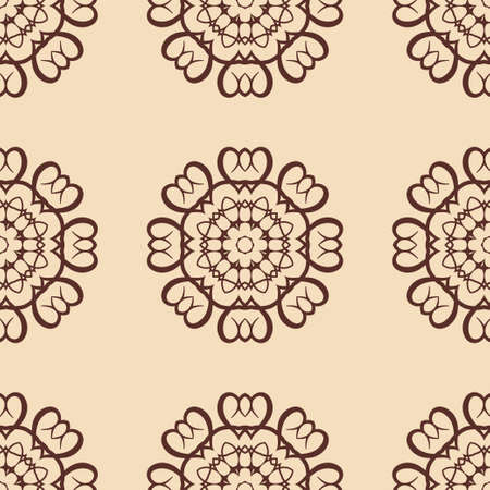 Vintage floral seamless floral texture. Element for design. Ornamental backdrop. Ornate floral decor for wallpaper. Traditional decor 矢量图像