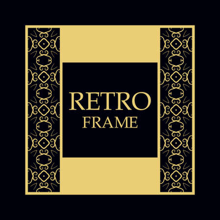 Vintage ornamental border frame on dark background