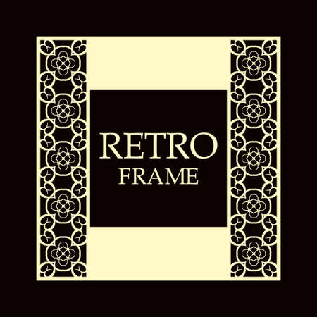 Vintage ornamental border frame on dark background  イラスト・ベクター素材