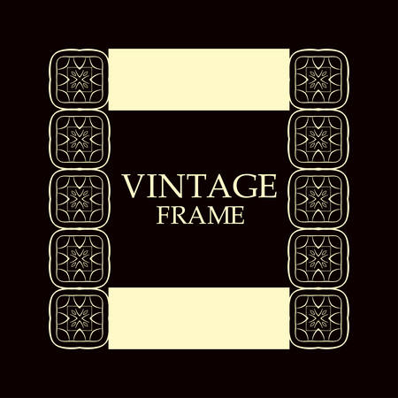 Vintage ornamental border frame on dark background 일러스트