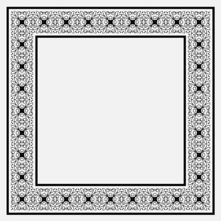 Vintage ornamental vector frame. Template for design