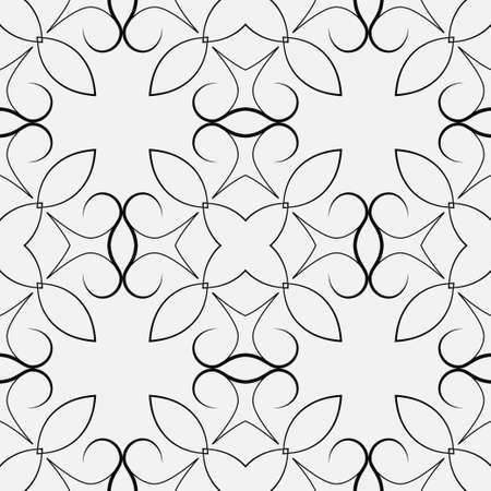 Ornamental seamless vintage pattern. Vector abstract background.