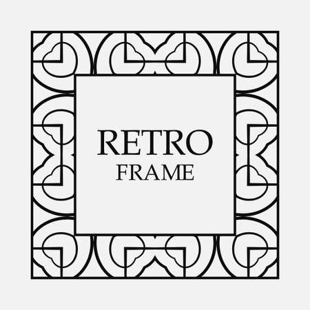 Vintage ornament greeting card vector template with place for text. Flourishes frame. Archivio Fotografico - 102689017